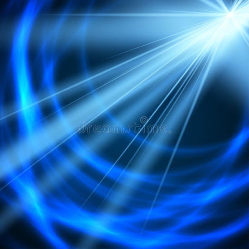 Διανυσματικός έντονος ήλιος σε ένα μαλακό μπλε υπόβαθρο διανυσματική απεικόνιση