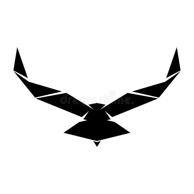Διανυσματικός αετός ή απομονωμένο γεράκι έμβλημα απεικόνιση αποθεμάτων