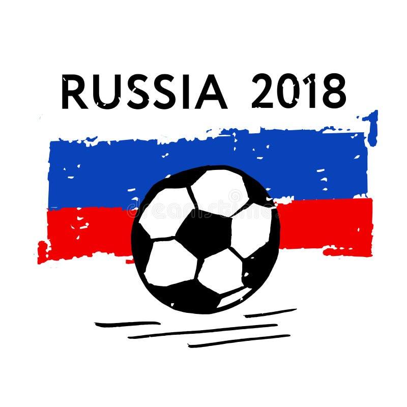Διανυσματικός αθλητισμός απεικόνισης βουρτσών σφαιρών σημαιών ποδοσφαίρου απεικόνιση αποθεμάτων