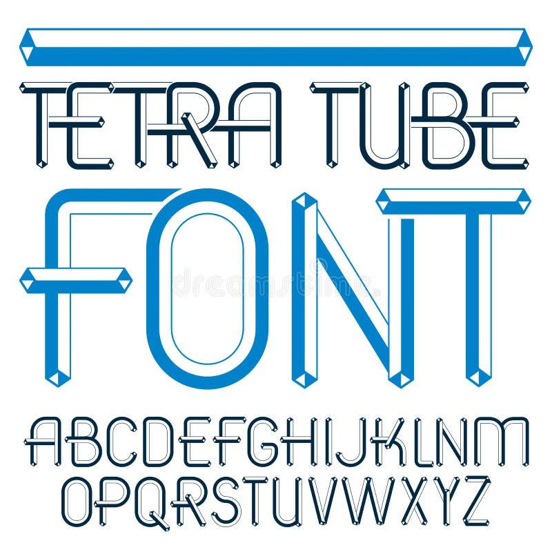Διανυσματικός ανώτερος - σύγχρονες επιστολές αλφάβητου περίπτωσης καθορισμένες Καλλιτεχνική πηγή, δακτυλογραφημένο κείμενο για τη απεικόνιση αποθεμάτων