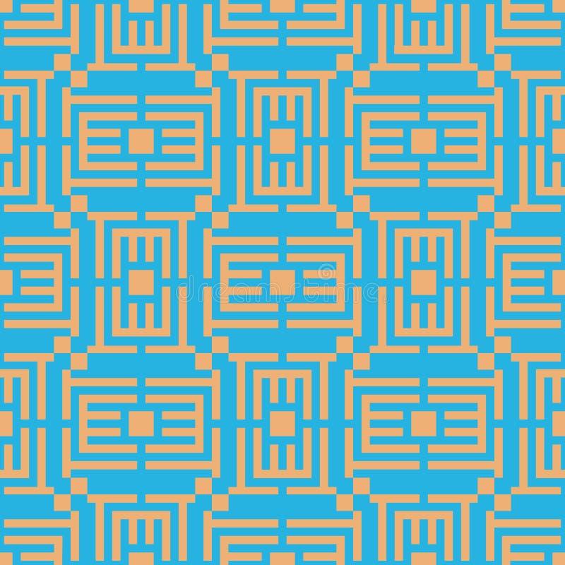 Διανυσματικός απεικόνιση ή γρίφος γεωμετρικό πρότυπο άνευ ραφής Απλό κανονικό υπόβαθρο διανυσματική απεικόνιση