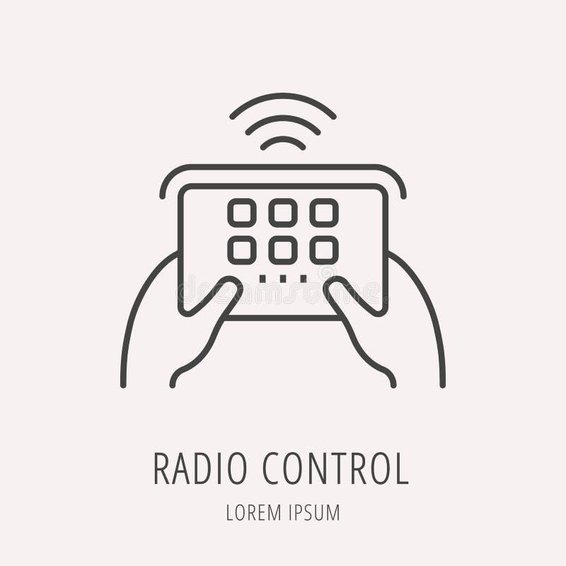 Διανυσματικός απλός ραδιο έλεγχος προτύπων λογότυπων διανυσματική απεικόνιση