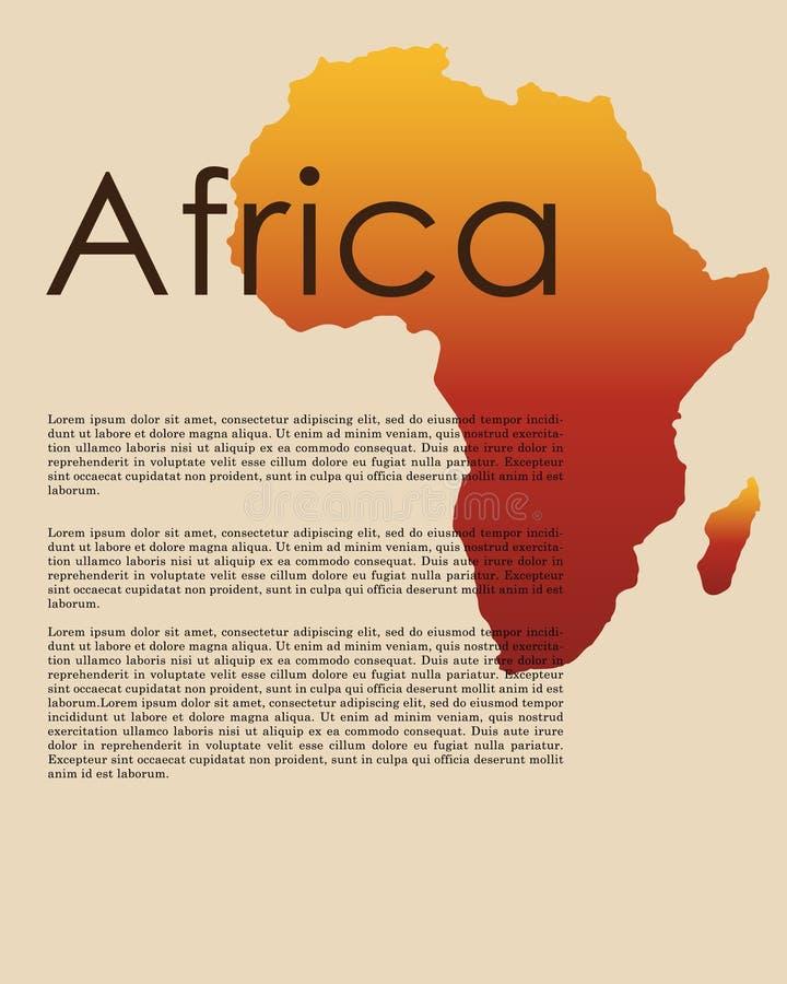 Διανυσματικός αφηρημένος χάρτης της Αφρικής διανυσματική απεικόνιση