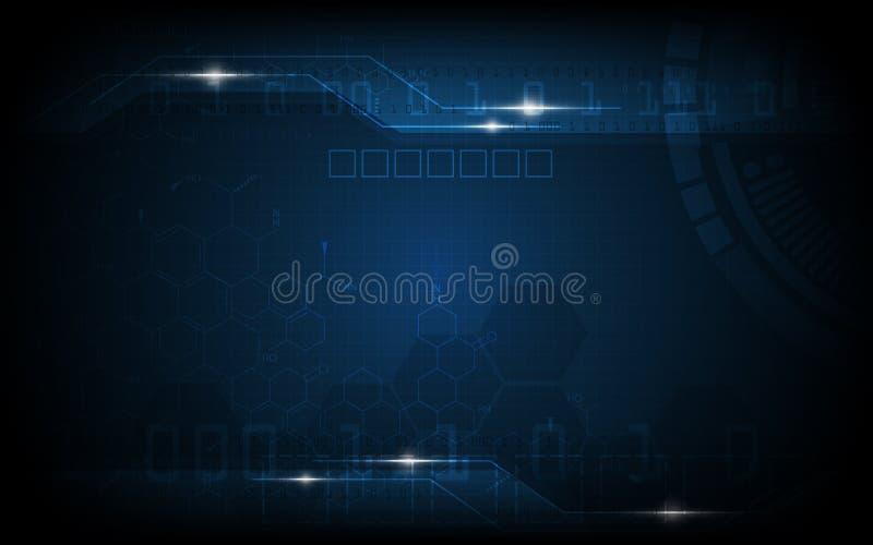 Διανυσματικός αφηρημένος ψηφιακός και γεια υπόβαθρο σχεδίων τεχνολογίας ελεύθερη απεικόνιση δικαιώματος
