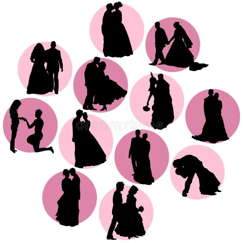 διανυσματικός γάμος απεικόνιση αποθεμάτων