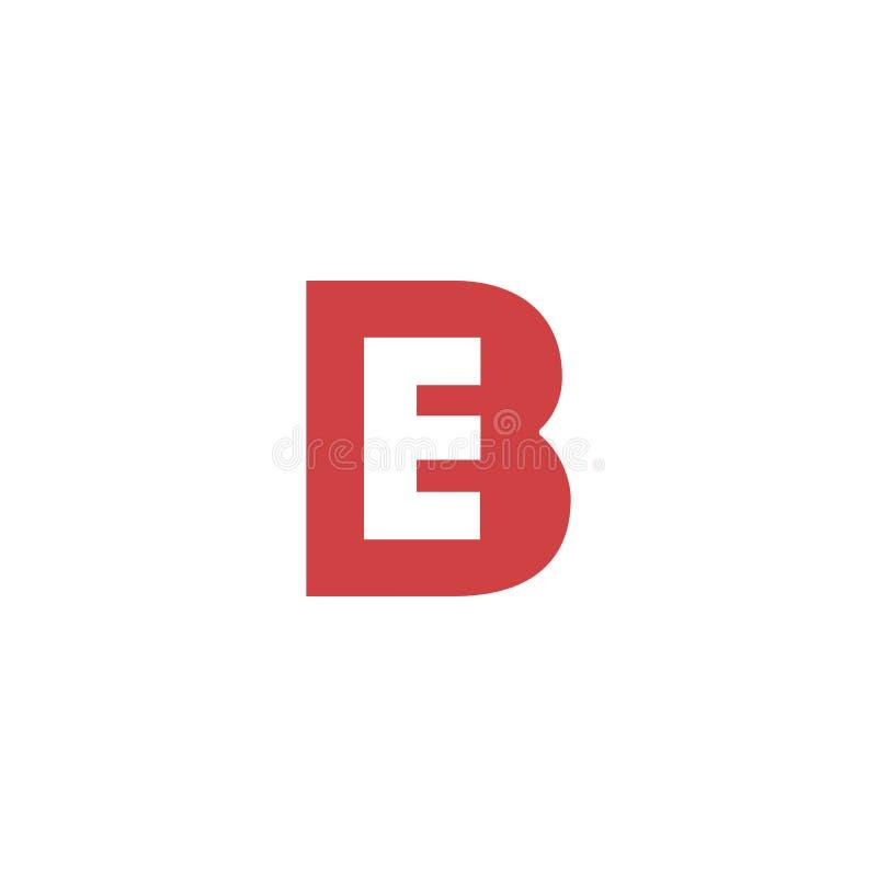 διανυσματικός εικονογράφος προτύπων λογότυπων γραμμάτων Β δημιουργικός απεικόνιση αποθεμάτων