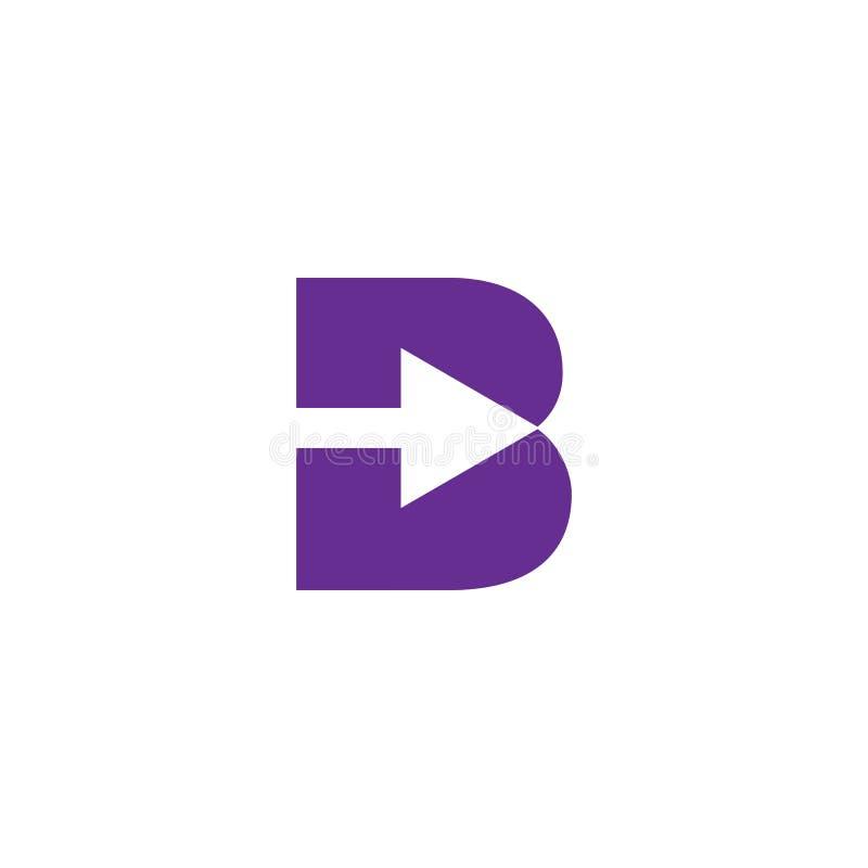 διανυσματικός εικονογράφος προτύπων λογότυπων γραμμάτων Β δημιουργικός ελεύθερη απεικόνιση δικαιώματος