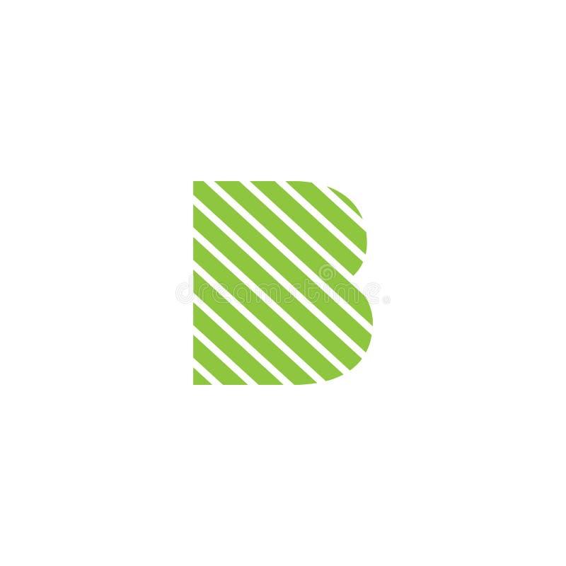 διανυσματικός εικονογράφος προτύπων λογότυπων γραμμάτων Β δημιουργικός διανυσματική απεικόνιση