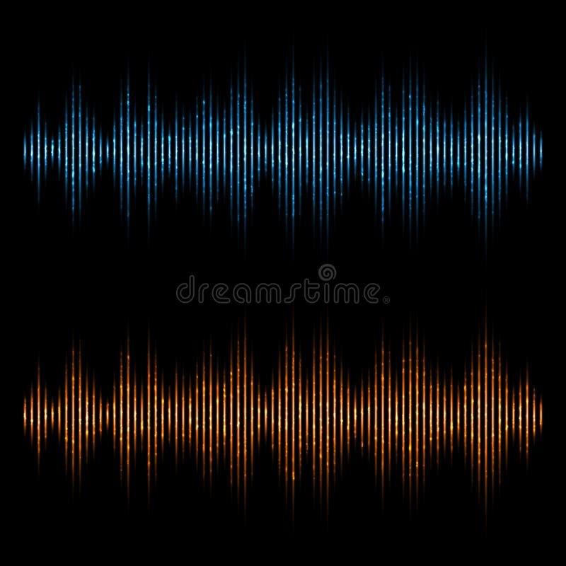 Διανυσματικός εξισωτής, υγιή κύματα Ψηφιακός εξισωτής μουσικής διανυσματική απεικόνιση