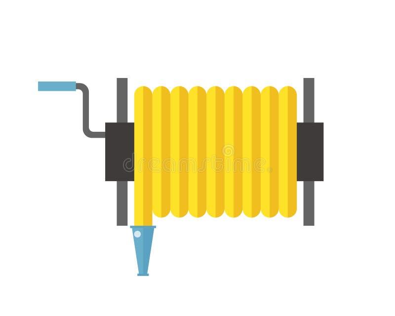Διανυσματικός εξοπλισμός έκτακτης ανάγκης νερού μανικών οδών πρόληψης πίεσης μετάλλων απεικόνισης εξελίκτρων μανικών πυρκαγιάς διανυσματική απεικόνιση