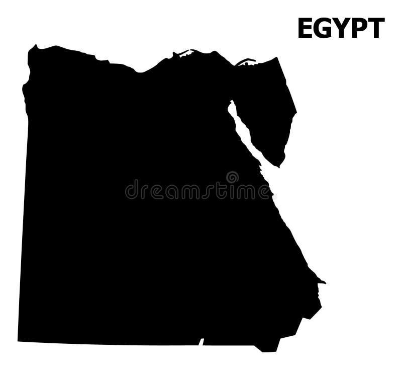 Διανυσματικός επίπεδος χάρτης της Αιγύπτου με το όνομα ελεύθερη απεικόνιση δικαιώματος