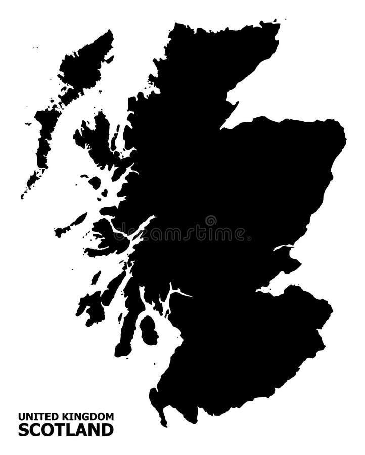 Διανυσματικός επίπεδος χάρτης της Σκωτίας με το όνομα ελεύθερη απεικόνιση δικαιώματος