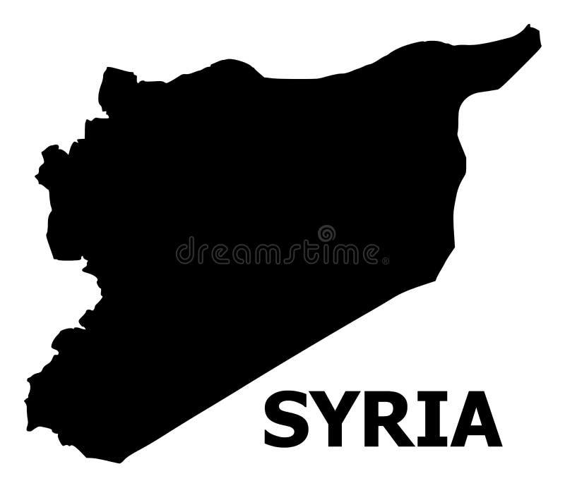Διανυσματικός επίπεδος χάρτης της Συρίας με το όνομα διανυσματική απεικόνιση