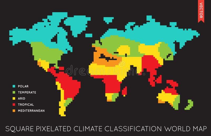 Διανυσματικός επίπεδος παγκόσμιος χάρτης Infographic κόσμος χαρτών διανυσματική απεικόνιση