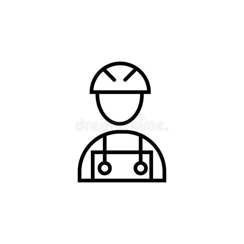 Διανυσματικός εργάτης οικοδομών συμβόλων σημαδιών εικόνων εργατών οικοδομών ελεύθερη απεικόνιση δικαιώματος