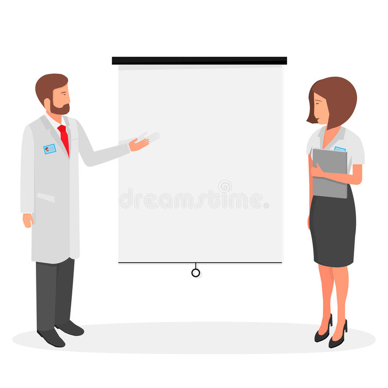 Διανυσματικός ιατρικός εργαζόμενος απεικόνισης διανυσματική απεικόνιση