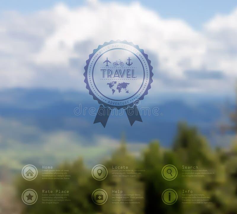 Διανυσματικός Ιστός και κινητό πρότυπο διεπαφών Εταιρικό σχέδιο ιστοχώρου ταξιδιού Σκηνικό Minimalistic διάνυσμα editable θαμπάδω ελεύθερη απεικόνιση δικαιώματος