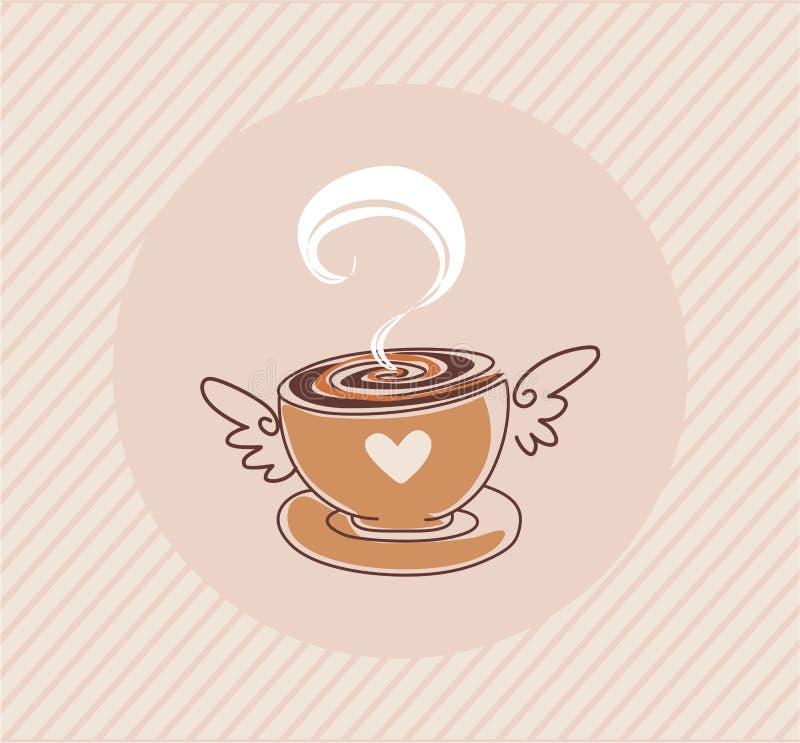 Διανυσματικός καφές ΚΑΠ διανυσματική απεικόνιση