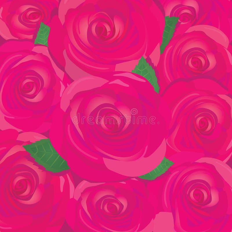 Διανυσματικός κόκκινος αυξήθηκε υπόβαθρο λουλουδιών. διανυσματική απεικόνιση
