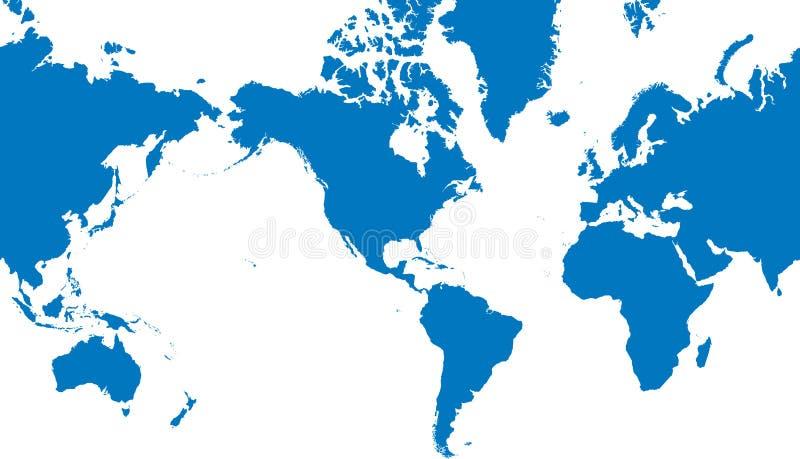 διανυσματικός κόσμος χαρτών απεικόνισης ελεύθερη απεικόνιση δικαιώματος
