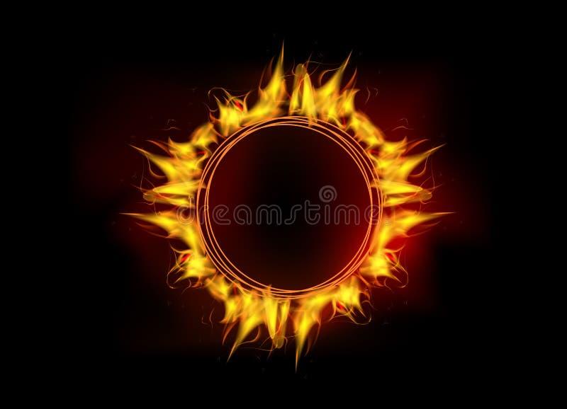 Διανυσματικός κύκλος φλογών πυρκαγιάς ελεύθερη απεικόνιση δικαιώματος