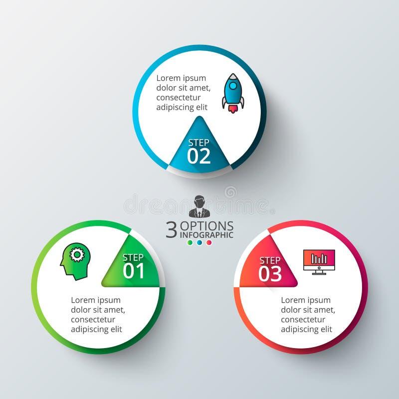 Διανυσματικός κύκλος infographic ελεύθερη απεικόνιση δικαιώματος