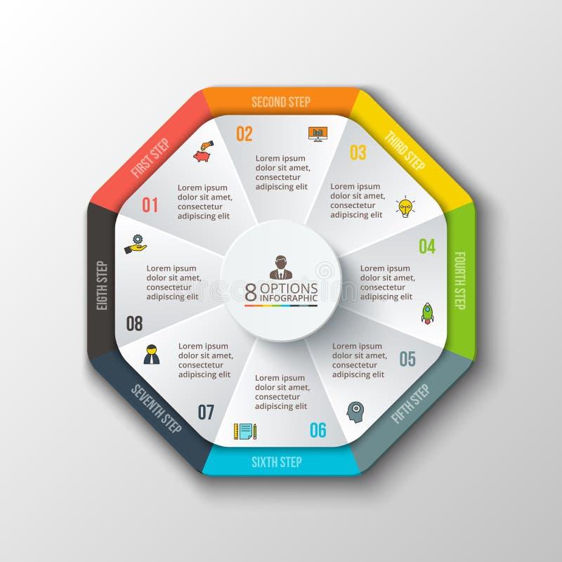 Διανυσματικός κύκλος infographic απεικόνιση αποθεμάτων