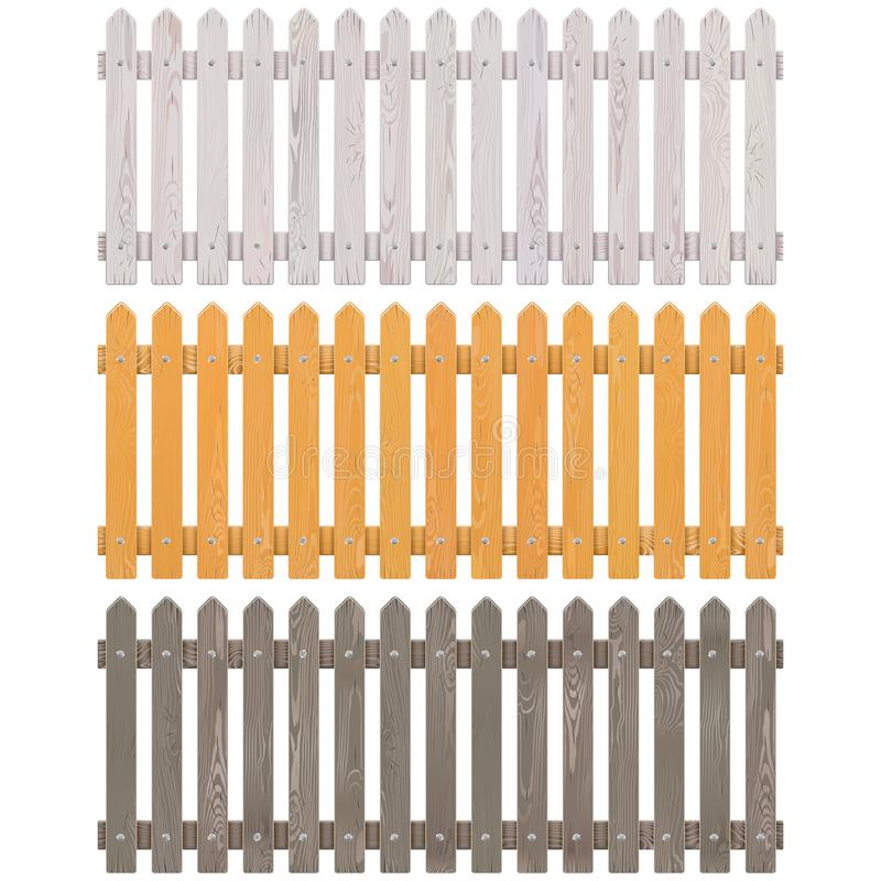 Διανυσματικός ξύλινος φράκτης στύλων ελεύθερη απεικόνιση δικαιώματος