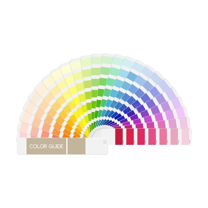 Διανυσματικός οδηγός χρώματος που απομονώνεται ελεύθερη απεικόνιση δικαιώματος