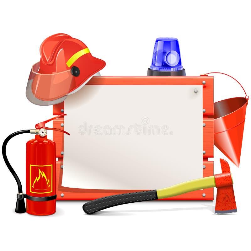 Διανυσματικός πίνακας πυροσβεστών απεικόνιση αποθεμάτων