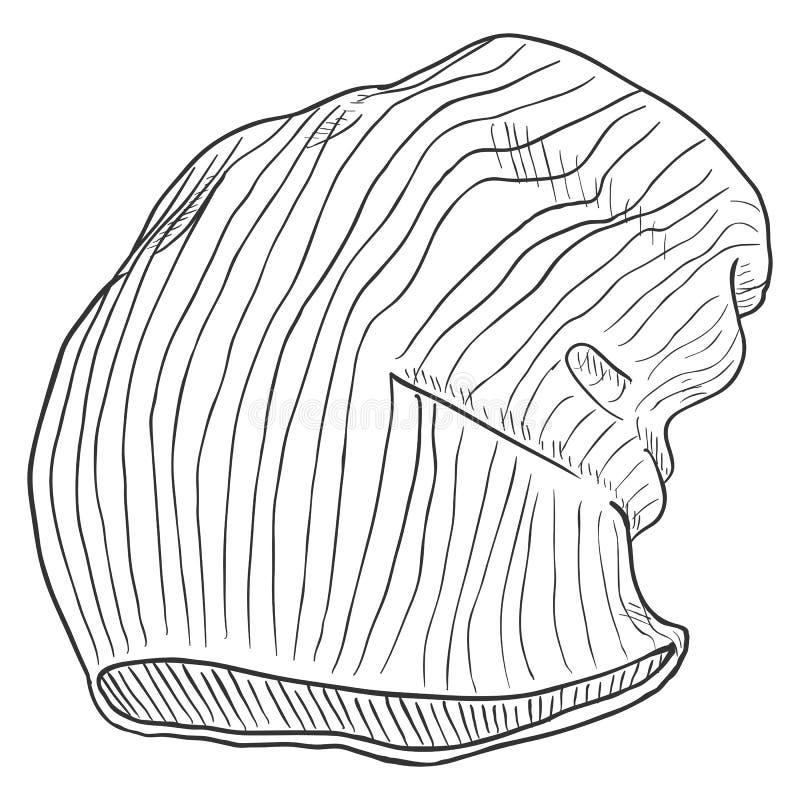 Διανυσματικός πλεκτός σκίτσο χειμώνας ΚΑΠ ελεύθερη απεικόνιση δικαιώματος