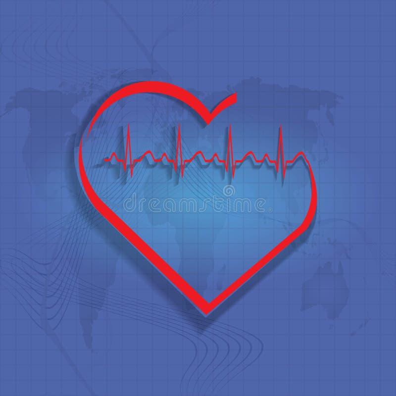 Διανυσματικός ρυθμός καρδιών. διανυσματική απεικόνιση
