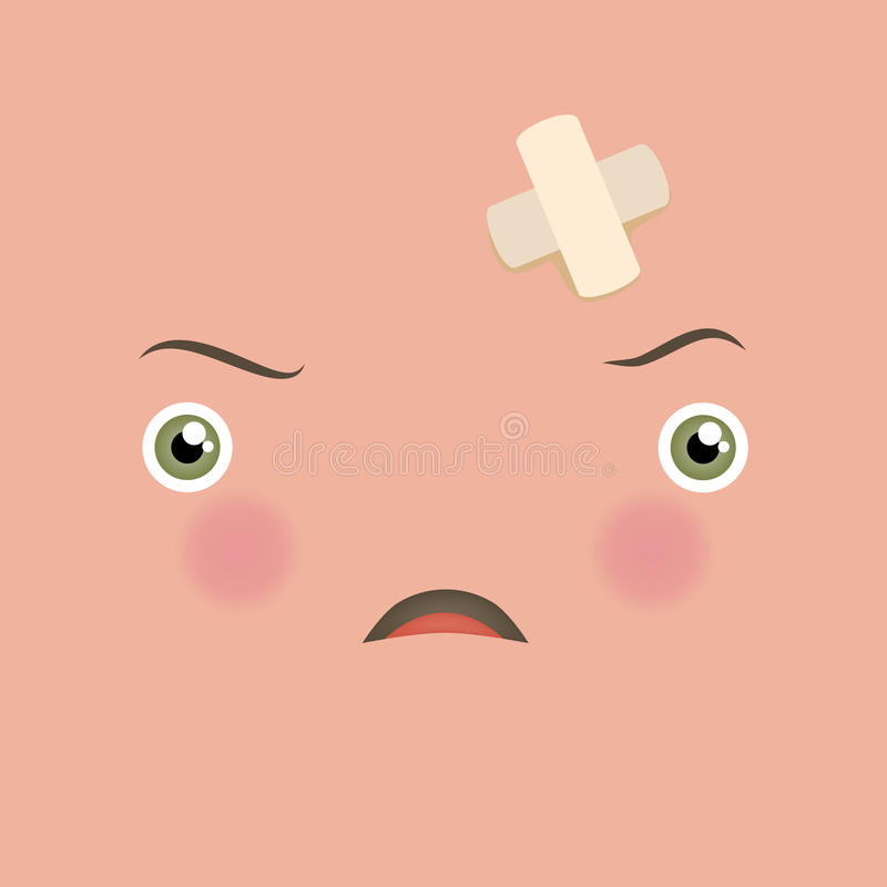Διανυσματικός λυπημένος και απογοητευμένος emoticon ελεύθερη απεικόνιση δικαιώματος