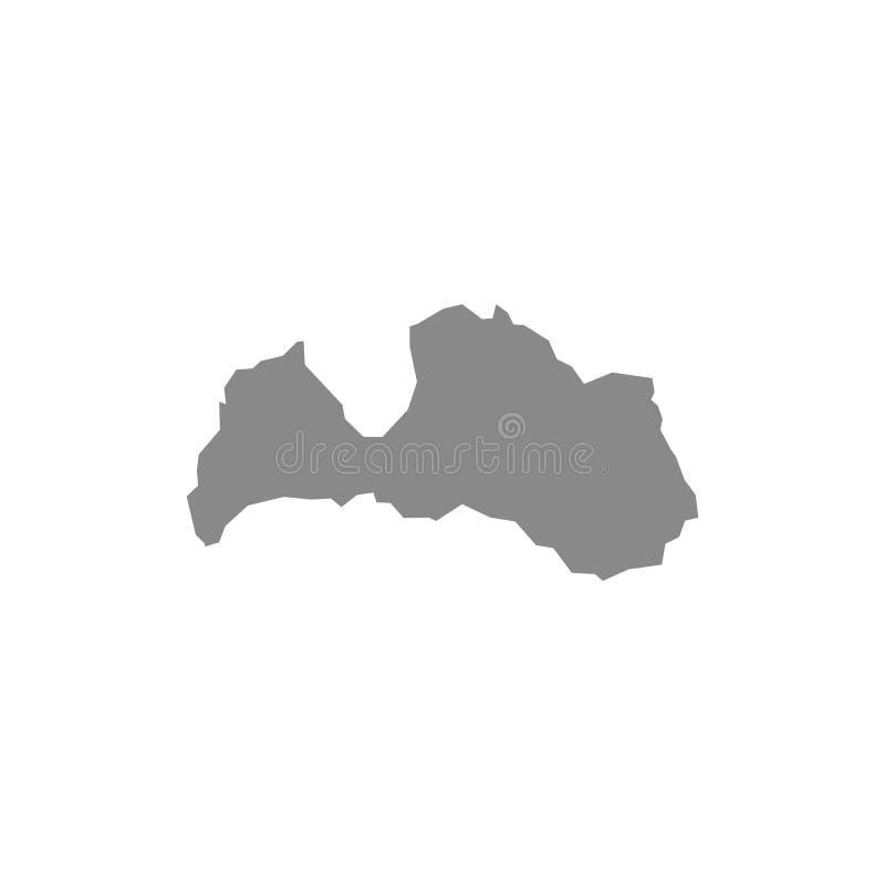 Διανυσματικός χάρτης Λετονία : Γκρίζος στο άσπρο υπόβαθρο EPS απεικόνιση απεικόνιση αποθεμάτων