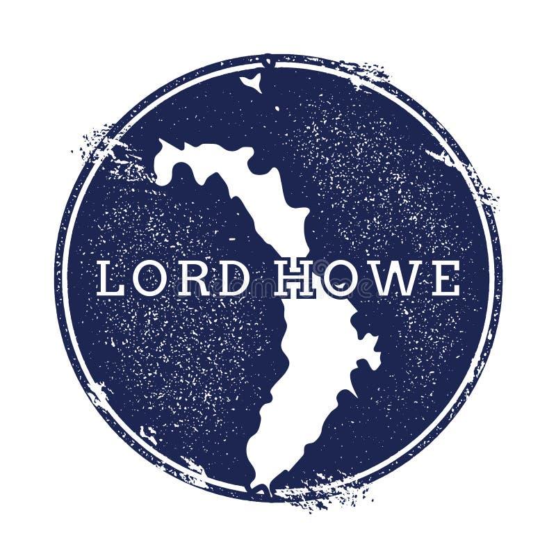 Διανυσματικός χάρτης Λόρδου Howe Island ελεύθερη απεικόνιση δικαιώματος