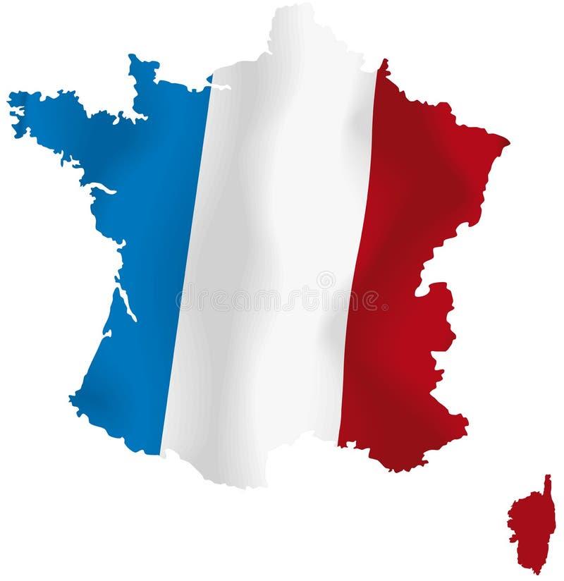Διανυσματικός χάρτης της Γαλλίας διανυσματική απεικόνιση