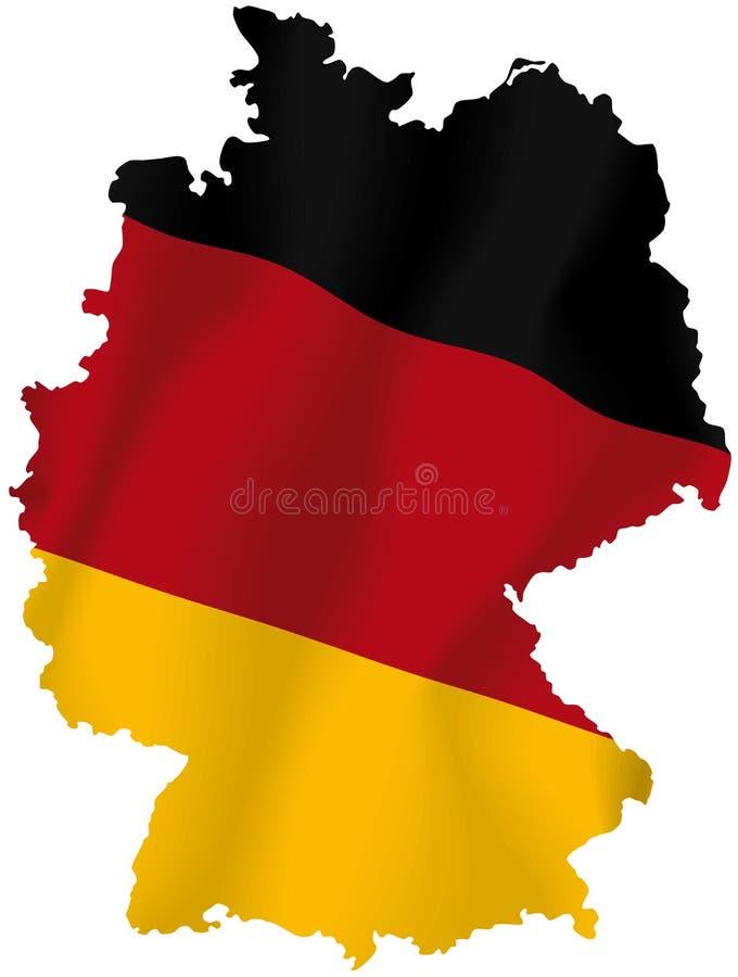 Διανυσματικός χάρτης της Γερμανίας διανυσματική απεικόνιση