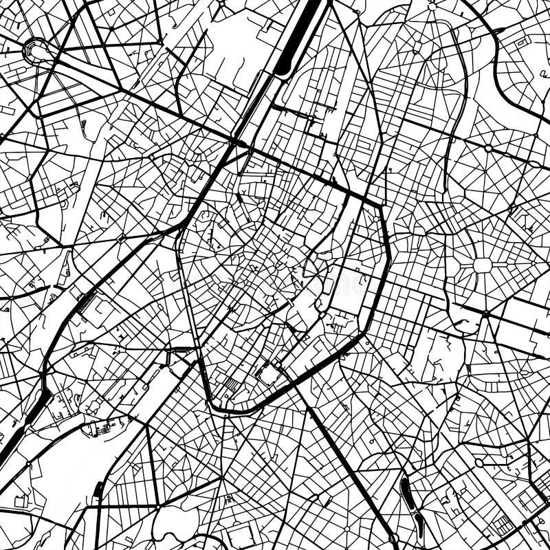 Διανυσματικός χάρτης των Βρυξελλών Βέλγιο ελεύθερη απεικόνιση δικαιώματος