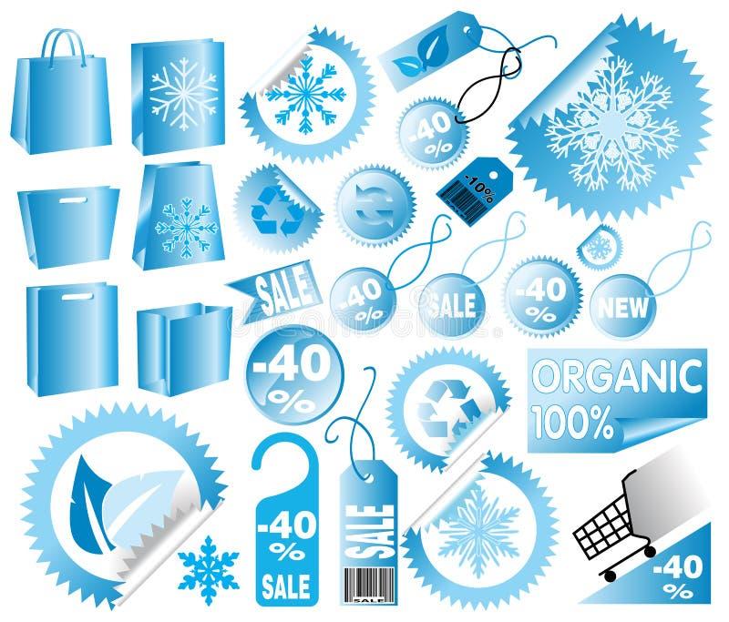 διανυσματικός χειμώνας &epsil απεικόνιση αποθεμάτων