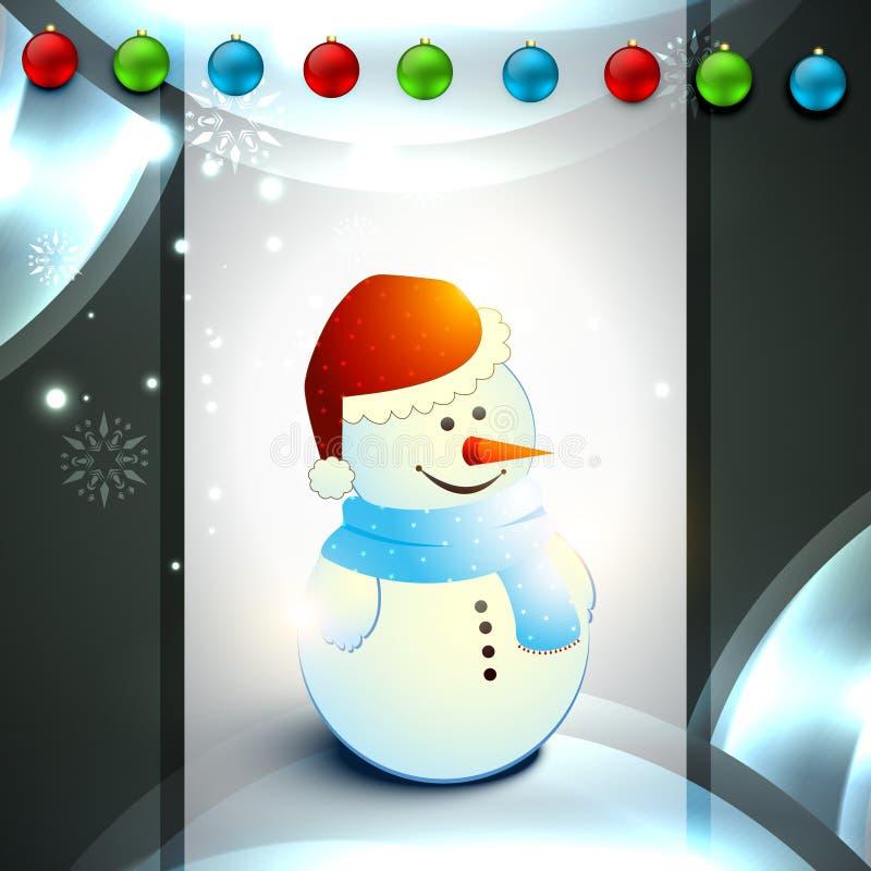 Διανυσματικός χιονάνθρωπος διανυσματική απεικόνιση