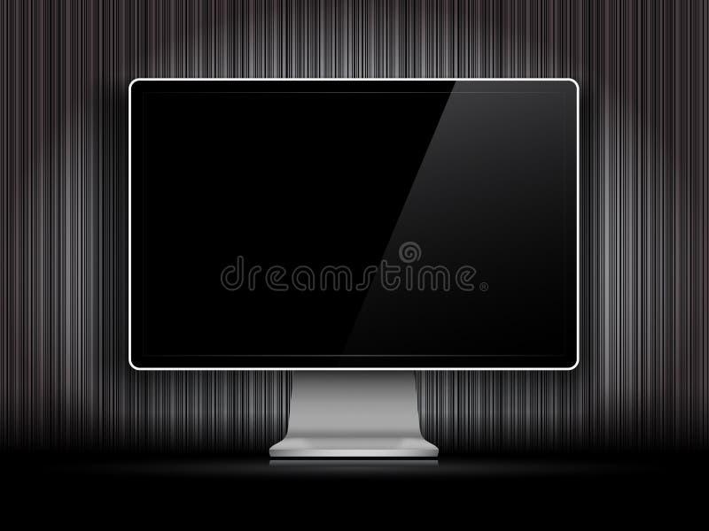 Διανυσματικός ψηφιακός μηνύτορας LCD διανυσματική απεικόνιση