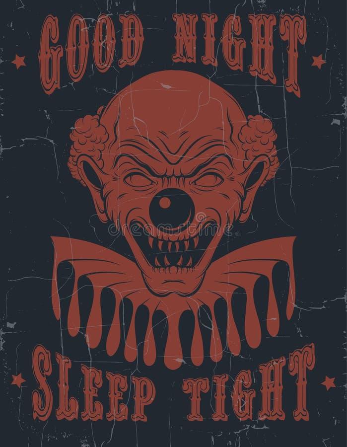 Διανυσματικός ύπνος σφιχτό ` καληνύχτας υποβάθρου ` αποσπάσματος τυπογραφικός διανυσματική απεικόνιση