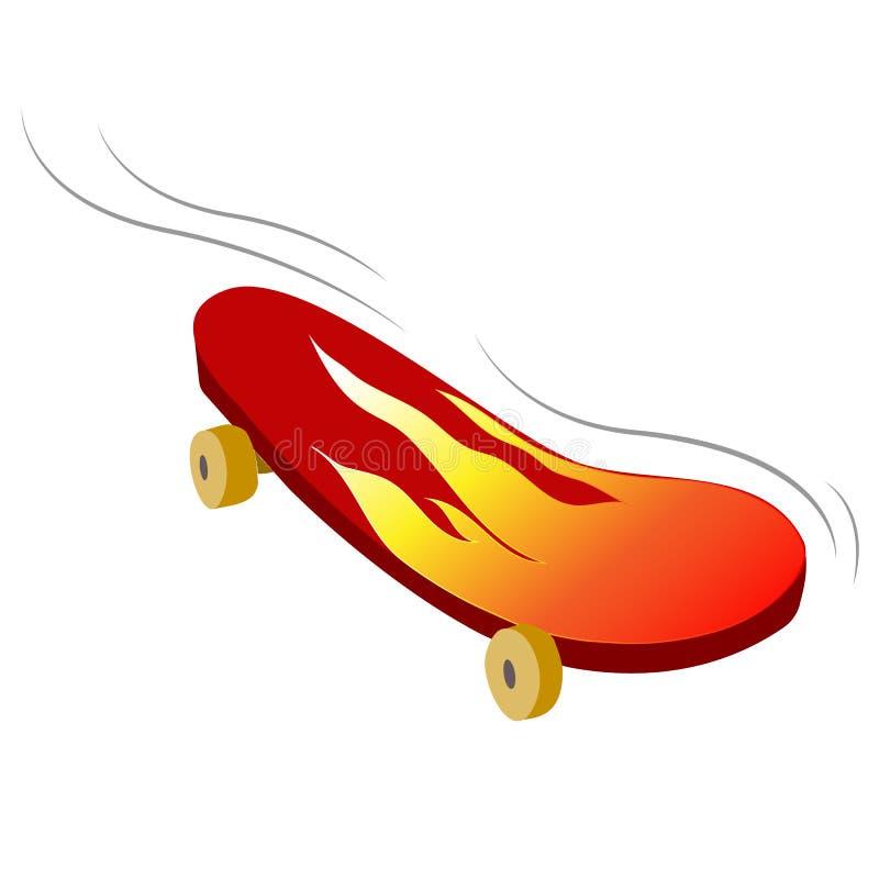 Διανυσματικός skateboard απεικόνισης ακραίος αθλητισμός, πίνακας στο αστικό ύφος, γραφική παράσταση για την μπλούζα ελεύθερη απεικόνιση δικαιώματος