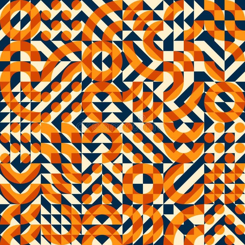Διανυσματικό άνευ ραφής ανώμαλο γεωμετρικό σχέδιο παπλωμάτων φραγμών τετραγωνικό ελεύθερη απεικόνιση δικαιώματος