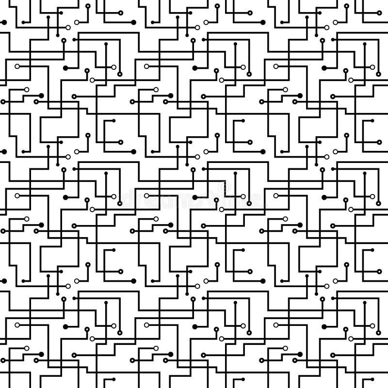 Διανυσματικό άνευ ραφής αφηρημένο πρότυπο - χαρτόνι κυκλωμάτων s απεικόνιση αποθεμάτων