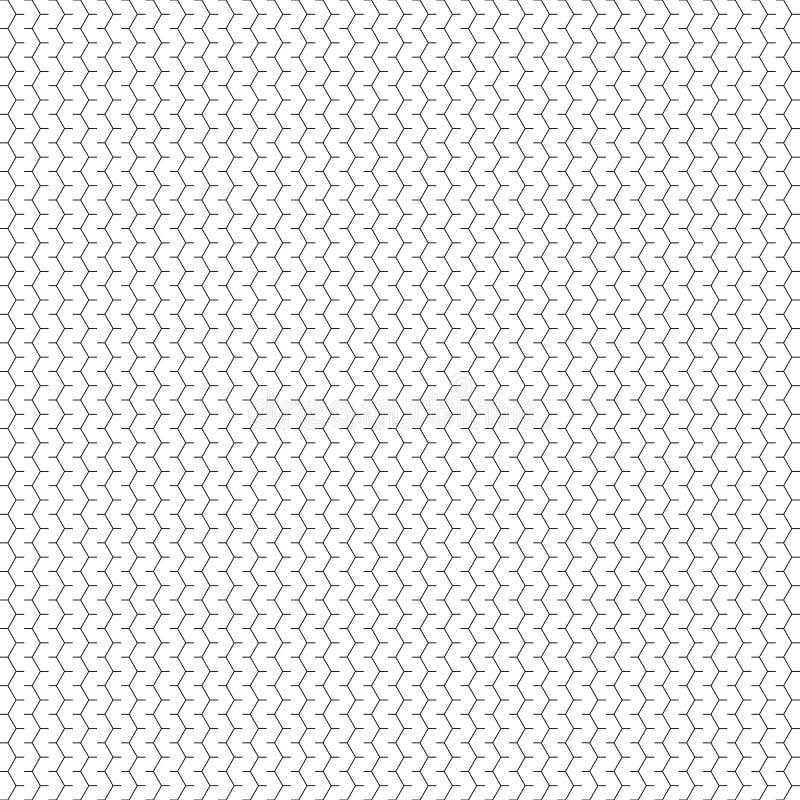Διανυσματικό άνευ ραφής γεωμετρικό πρότυπο Αφηρημένη σύσταση γραμμών Γραπτό υπόβαθρο Μονοχρωματικό σχέδιο ελεύθερη απεικόνιση δικαιώματος