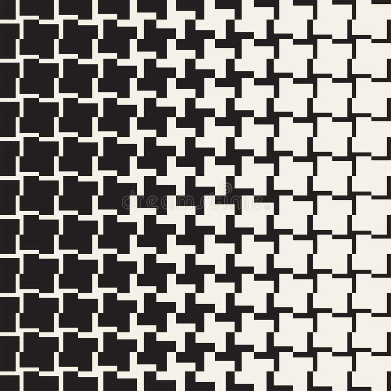 Διανυσματικό άνευ ραφής γεωμετρικό πρότυπο Ημίτοή μετάβαση χρώματος κλίσης Υφαμένο απλό δικτυωτό πλέγμα γραμμών ελεύθερη απεικόνιση δικαιώματος