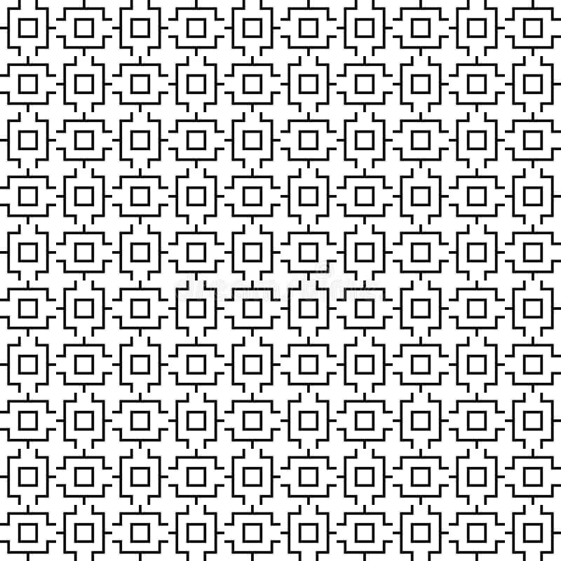 Διανυσματικό άνευ ραφής γεωμετρικό πρότυπο σύσταση γραμμών Γραπτό υπόβαθρο Μονοχρωματικό σχέδιο διανυσματική απεικόνιση