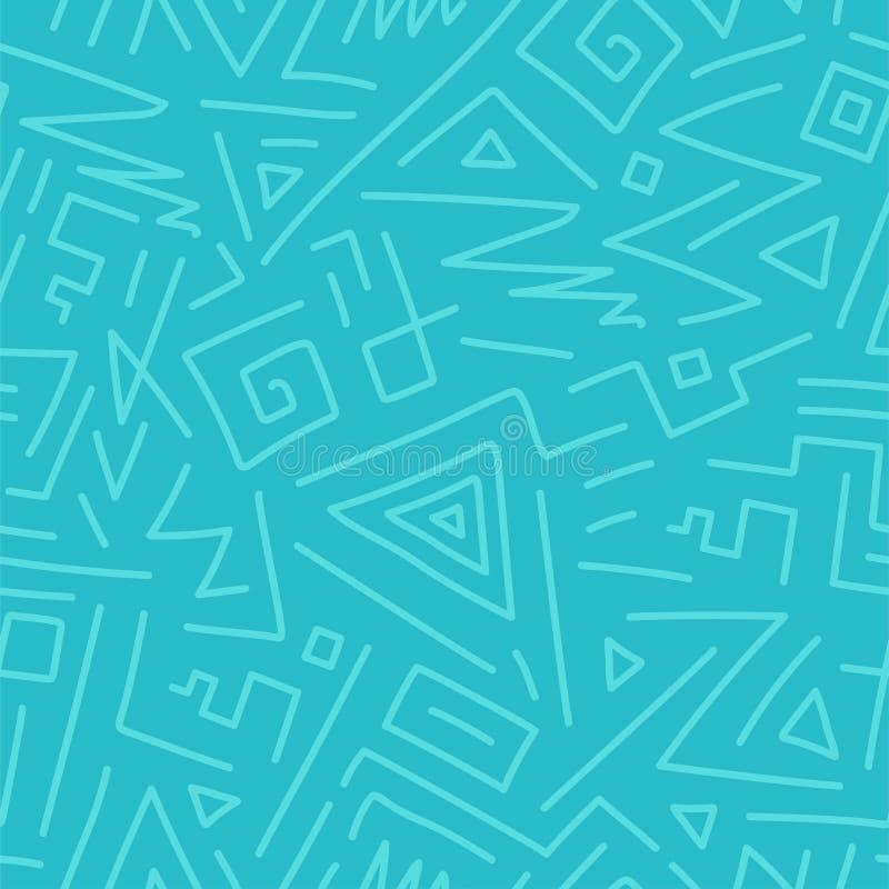 Διανυσματικό άνευ ραφής γεωμετρικό σχέδιο - συρμένο χέρι σχέδιο, doodle ύφος Σχεδιασμός του διακοσμητικού υποβάθρου απεικόνιση αποθεμάτων