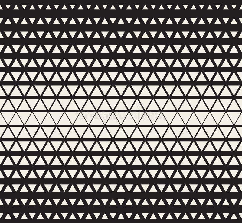 Διανυσματικό άνευ ραφής γραπτό γεωμετρικό υπόβαθρο σχεδίων κλίσης πλέγματος τριγώνων ημίτονο διανυσματική απεικόνιση